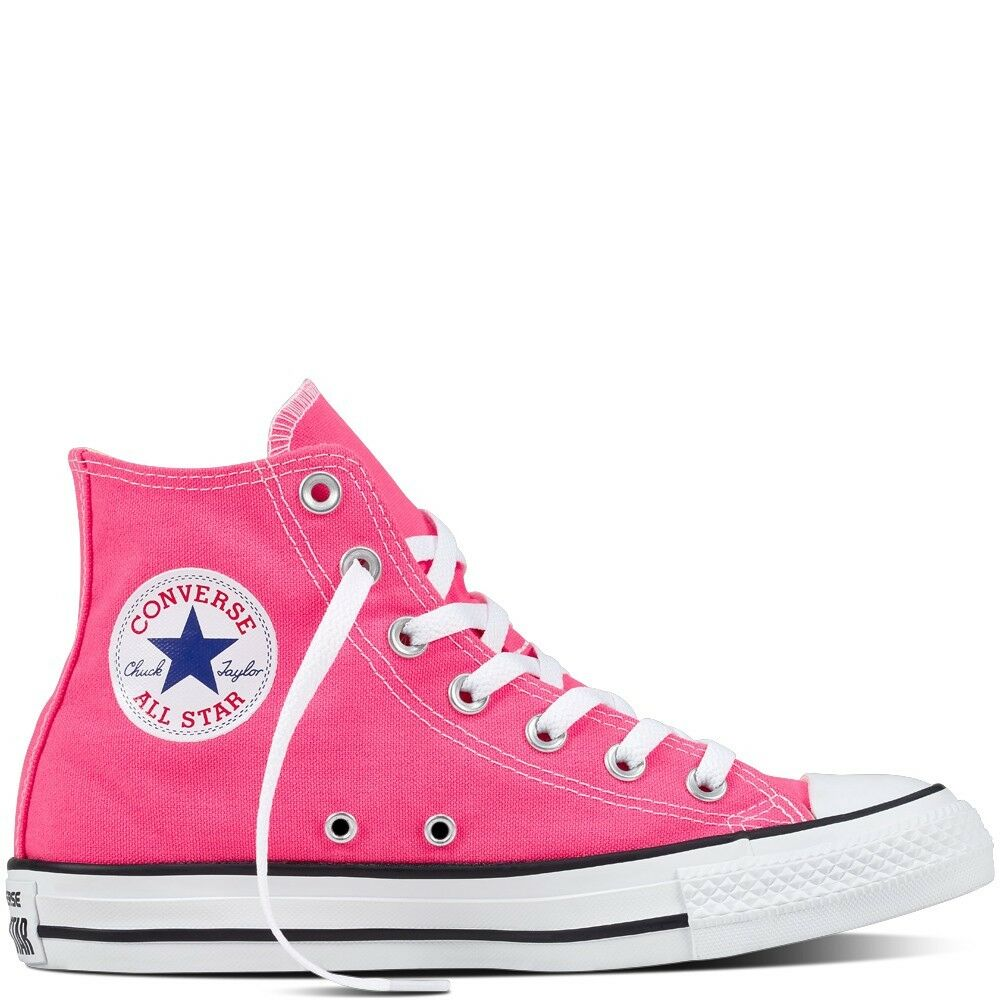 5d62489a3420 Details about Converse Chuck Taylor All Star Hi Pink Canvas Trainers CT  Unisex Womens