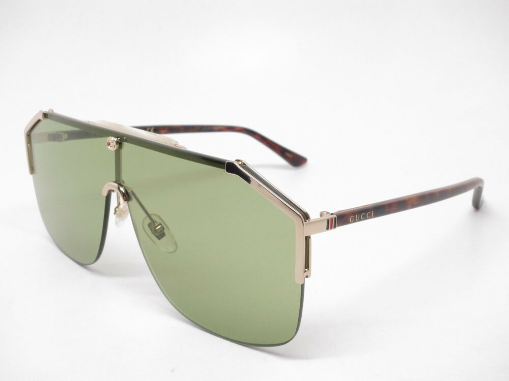 ed738eb216f Details about New Authentic Gucci GG0291S 004 Gold Havana with Green  Sunglasses GG 0291S