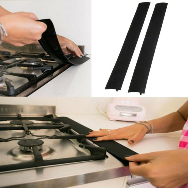 Flexible Easy Clean Dustproof Silicone Kitchen Stove Counter Gap Cover Filter