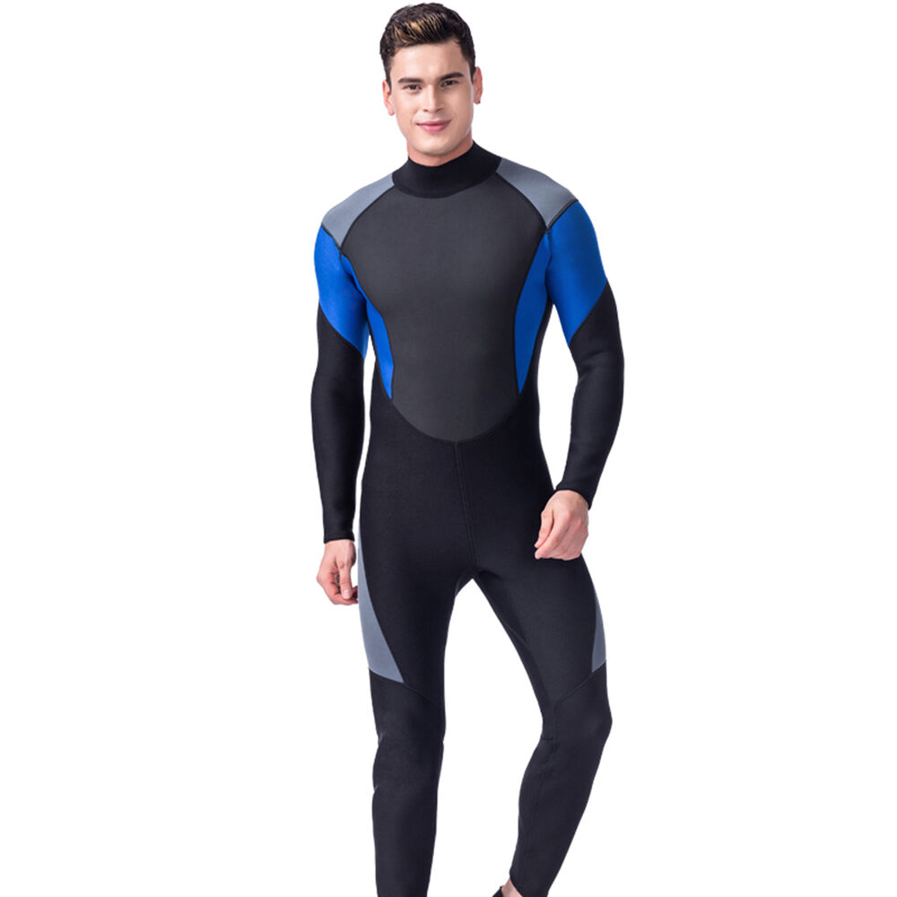 9f5caa9249 Details about New Mens 3mm Full Body Neoprene Wetsuit Wet Suit Surfing Surf  SCUBA Diving Dive