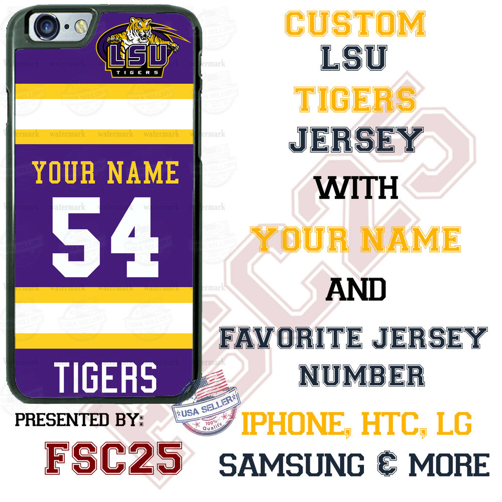 LSU Tigers Football Personalized Jersey Phone Case for iPhone ...
