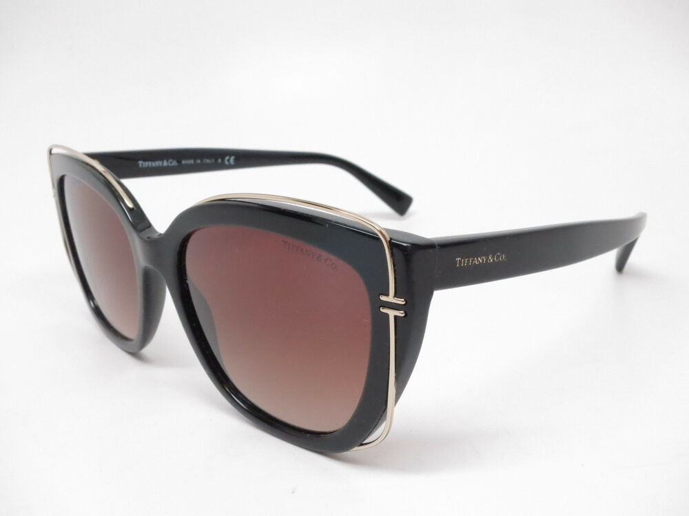 0320e99f8f90 Details about Tiffany   Co TF 4148 80013B Black   Gold with Brown Gradient  Sunglasses