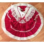 Vintage Toddlers Baby Girls Dress Red Lace Sz 18M