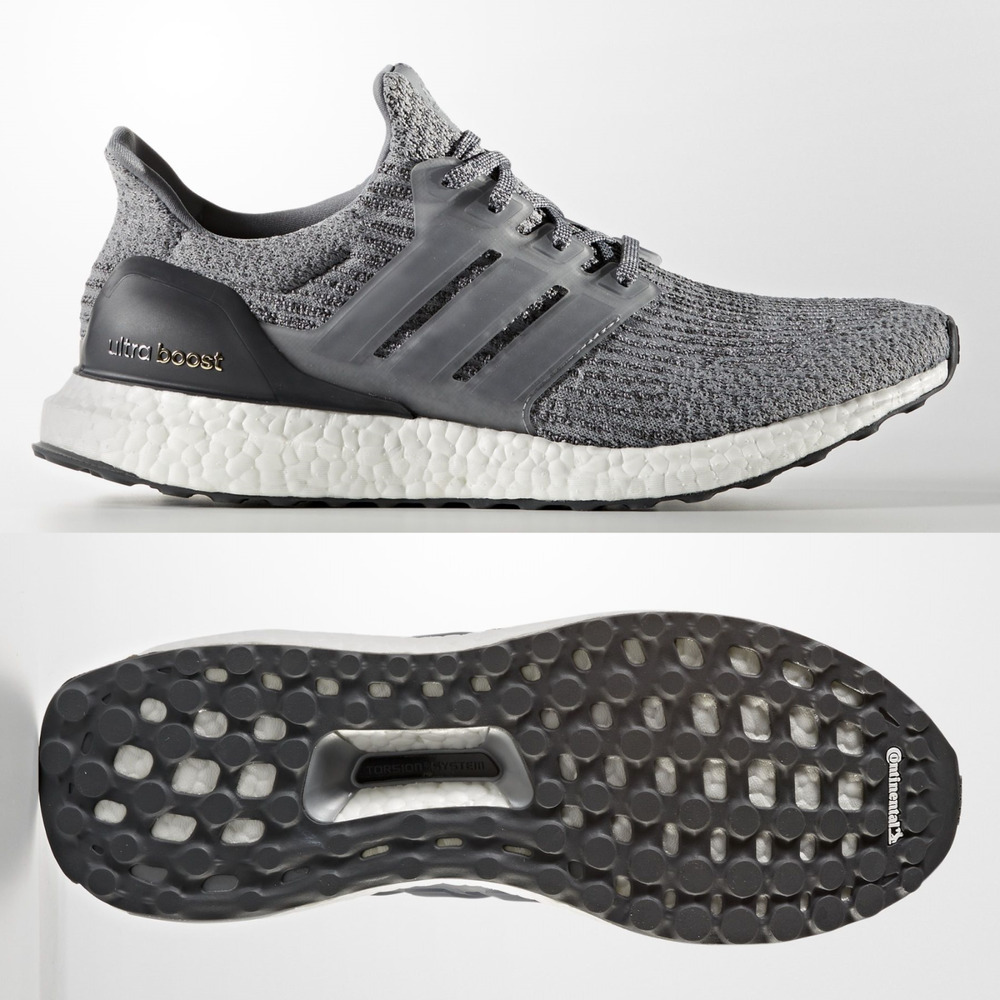 6fa2c109c Details about adidas Mens Ultra Boost 3.0 Mystery Grey Running Shoes BA8849  UltraBoost