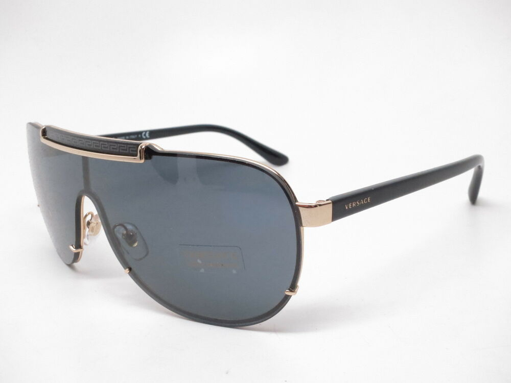 07ac2e6701e10 Details about New Versace VE 2140 100287 Gold with Grey Sunglasses