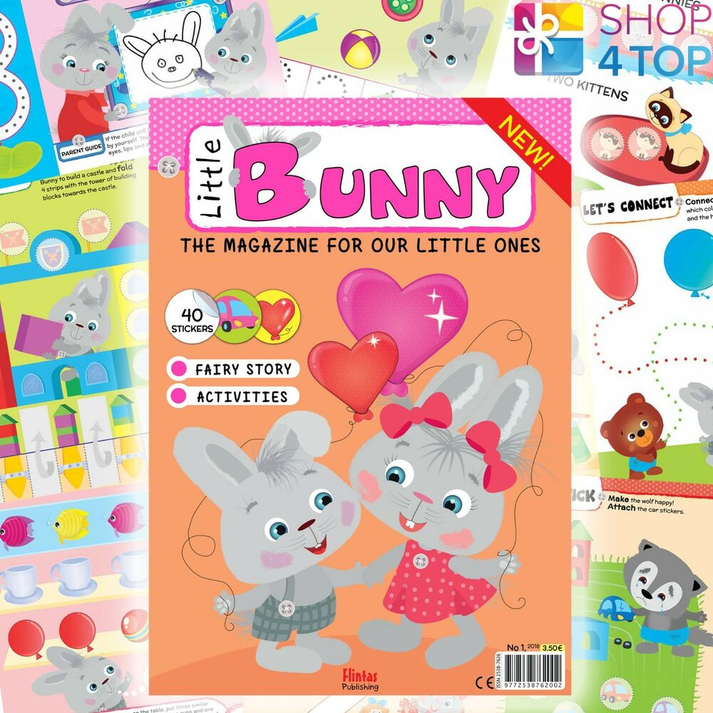 Details about little bunny magazine kids children stickers educational learning creative new