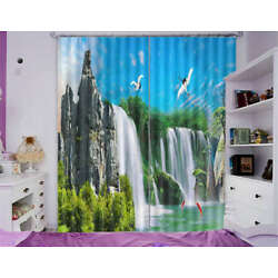 Delightful Nature View 3D Curtain Blockout Photo Printing Curtains Drape Fabric