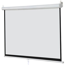 Kyпить 100 Inch 16:9 Manual Pull Down Projector Projection Screen Home Theater Movie на еВаy.соm