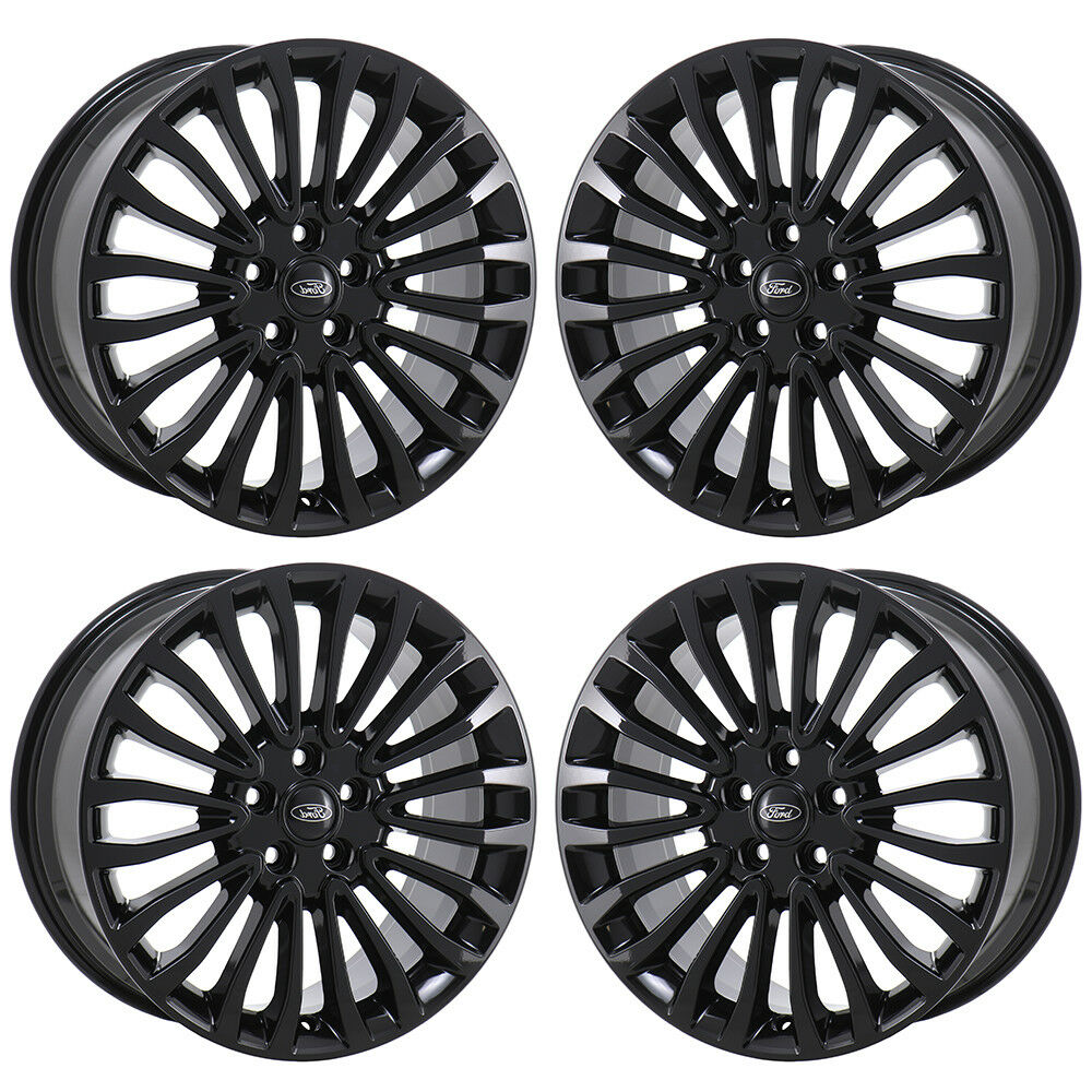18 Ford Fusion Black Wheels Rims Factory Oem 2017 2018 2019 Set