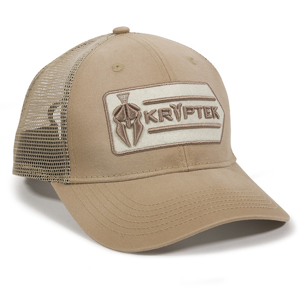 7dec1ce51fd Details about Kryptek Logo Mesh Back Hunting Hat Khaki Trucker Hat