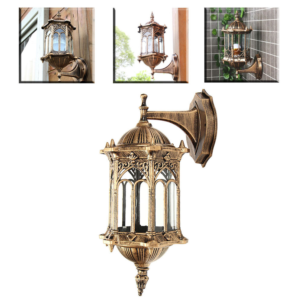 Outdoor Lantern Sconce Porch Light Lamp Antique Wall