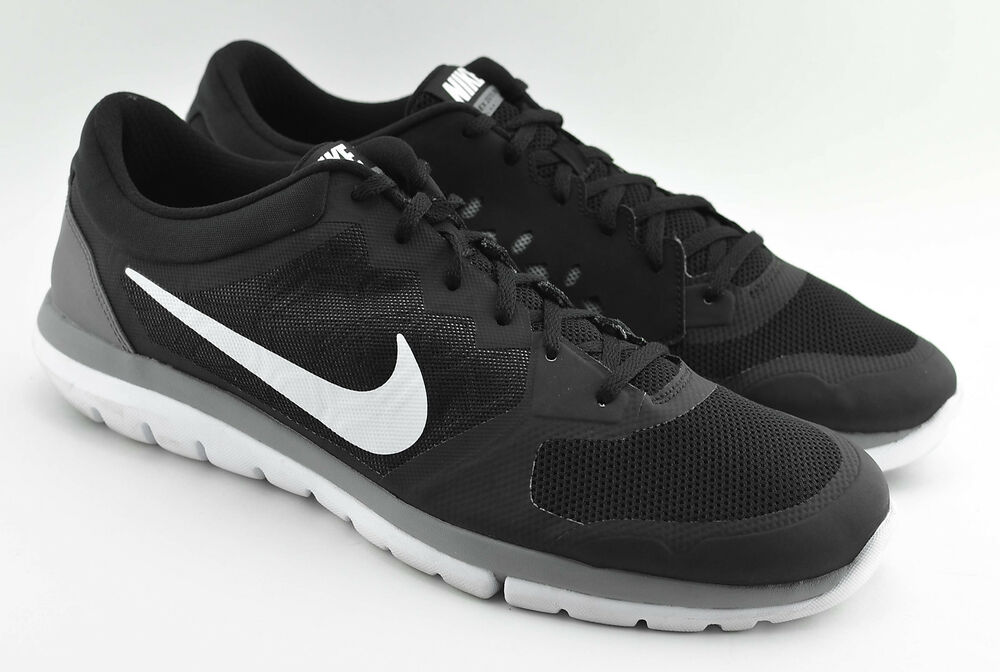 468d1d576252 Details about MENS NIKE FLEX 2015 RUN RUNNING SHOES SIZE 14 US BLACK WHITE  GRAY 709022 001