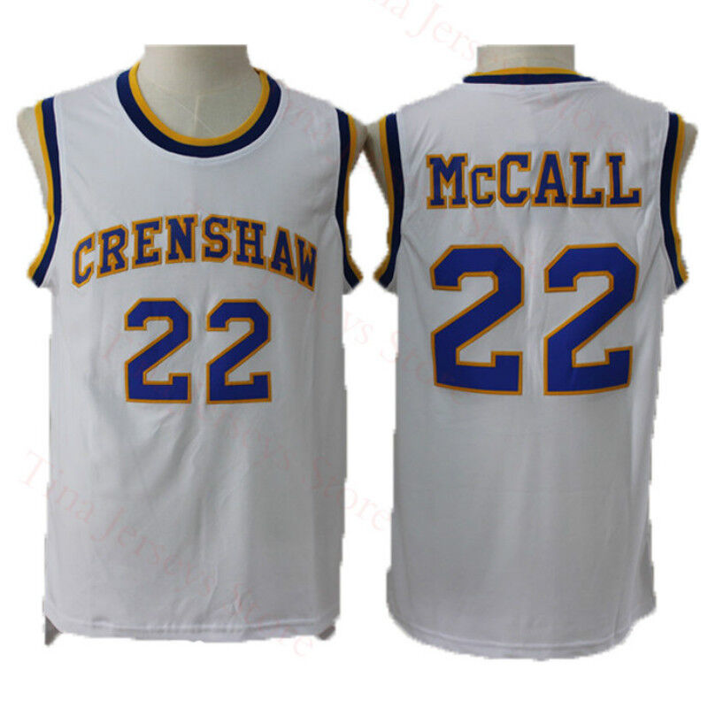 f09b0234145c Details about Quincy McCall 22 Crenshaw Movie Love and Basketball Jerseys  High School White