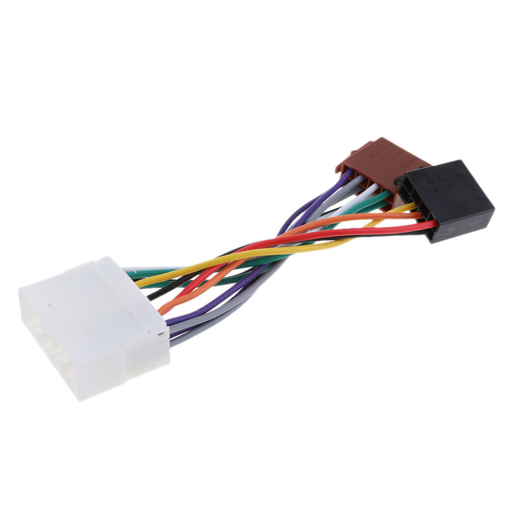 details about car stereo radio iso lead wire harness connector cable for  daewoo/ssangyong