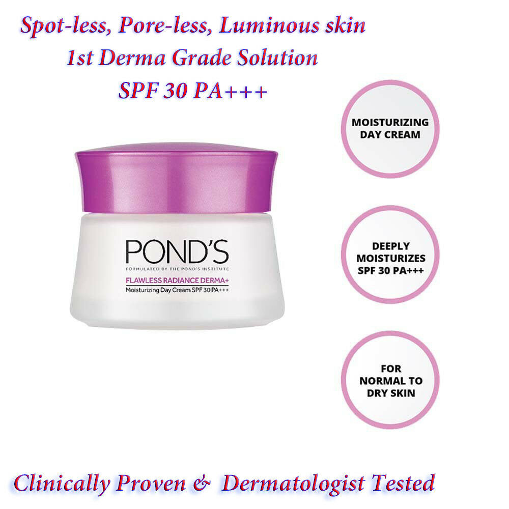 Ponds Flawless Radiance Derma Spf 30 Pa Moisturizing Day Cream Dewy Rose Gel 50 G 50g Ebay
