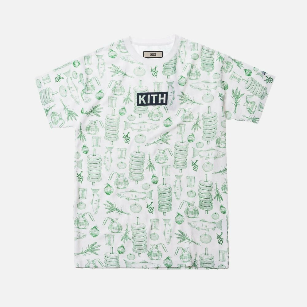25d29d4bf3681a Details about Kith X Sadelle's All Over Tee White T-Shirt Size L Large NEW  100% Authentic