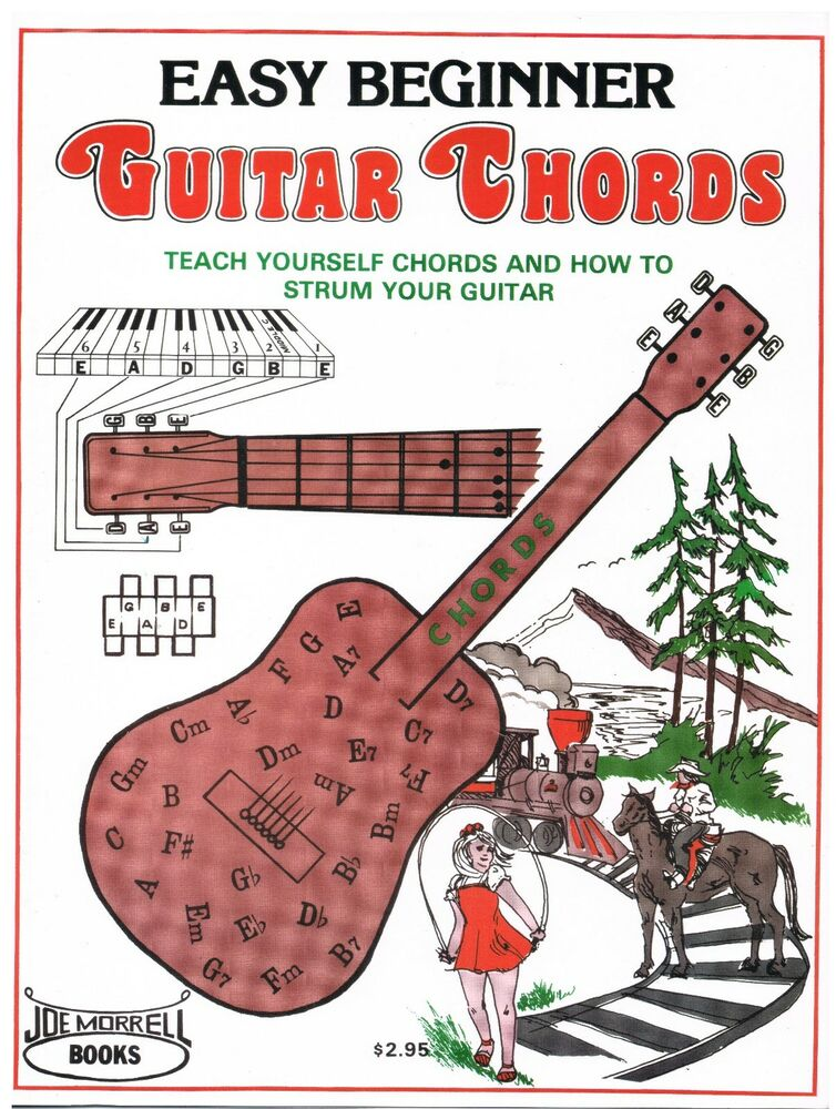 Easy Beginner Guitar Chords Instruction Book Learn To Play Guitar