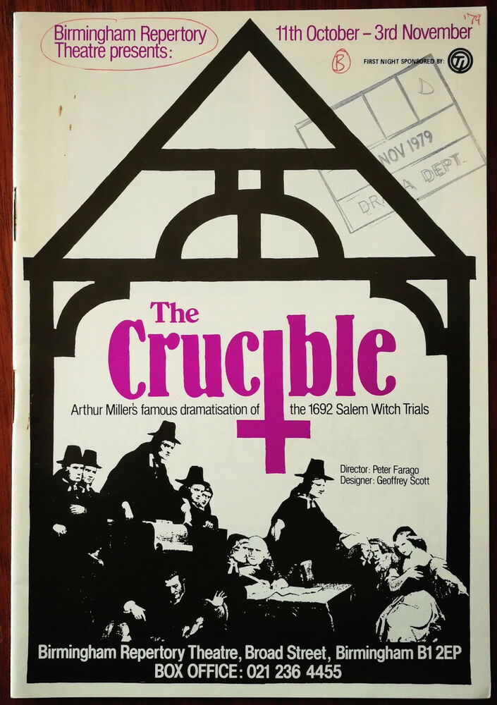 a review on the crucible by arthur miller Arthur miller s the crucible is set in salem, massachusetts and is inspired by real events that took place there in 1692 when the small puritan community was devastated by a mass hysteria brought on by young women crying out the names of hundreds of respected citizens as witches.