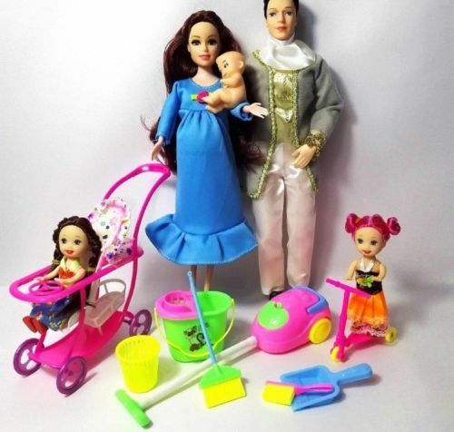 Barbie Happy Family Pregnant Midge Doll With Baby And Accessories Lot Pervmom 1