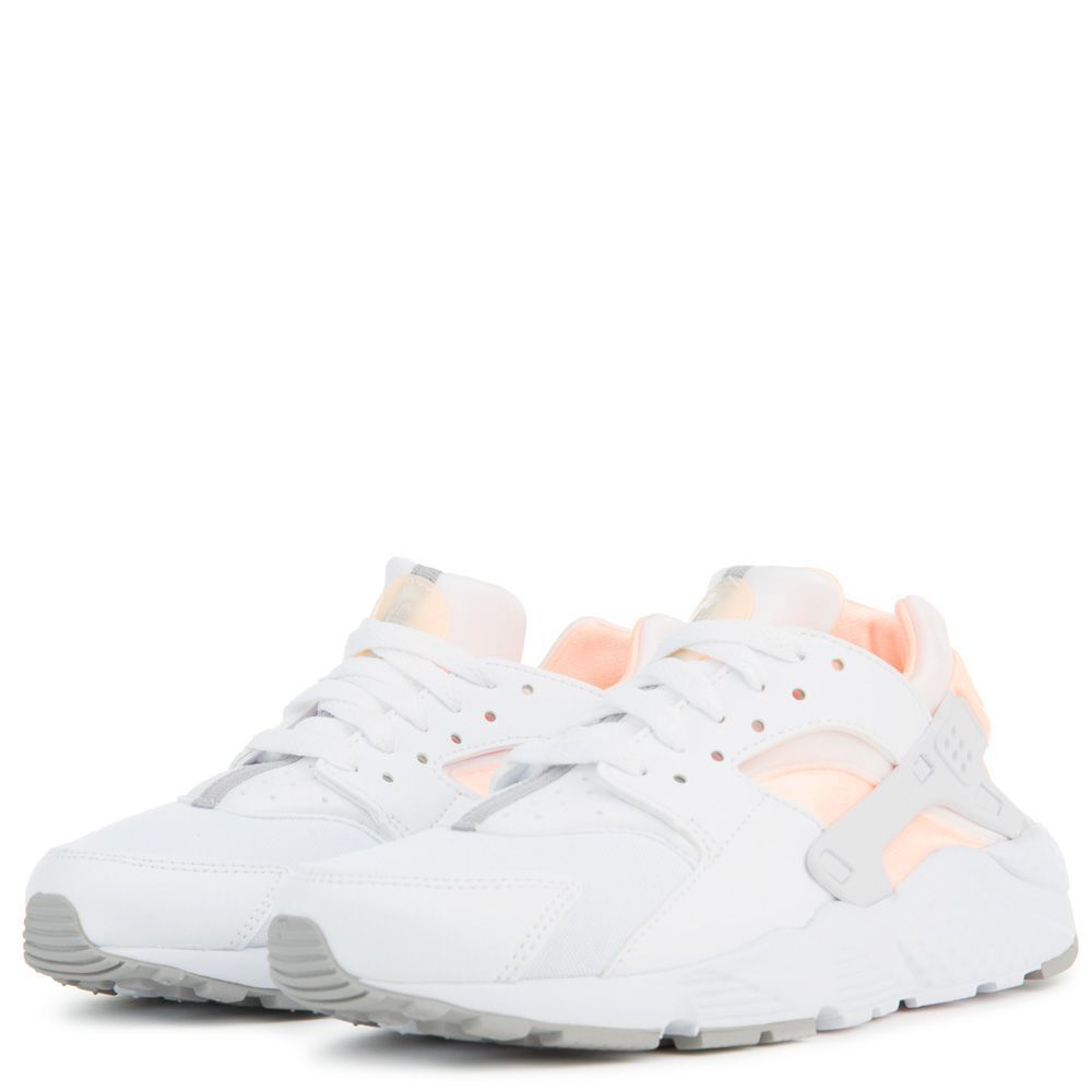 huge discount 30e18 b5d88 Details about NIKE HUARACHE RUN GS GRADE SCHOOL WHITE CRIMSON TINT PINK GIRLS  WOMEN 654280-110