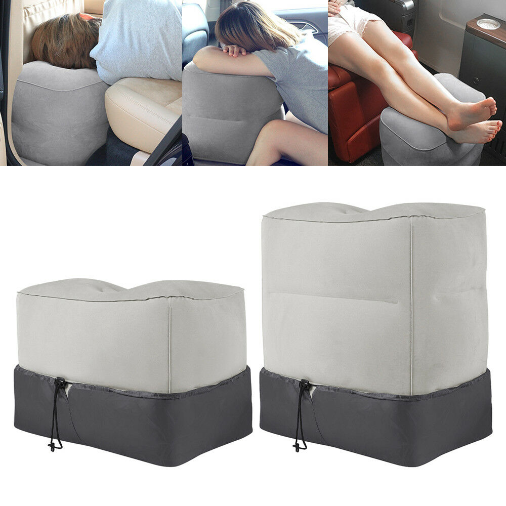 Inflatable Beds With Legs: Inflatable Travel Footrest Leg Foot Rest Travel Pillow