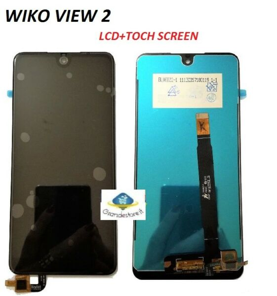 LCD WIKO VIEW 2 TOUCH SCREEN VETRO SCHERMO DISPLAY NERO NUOVO