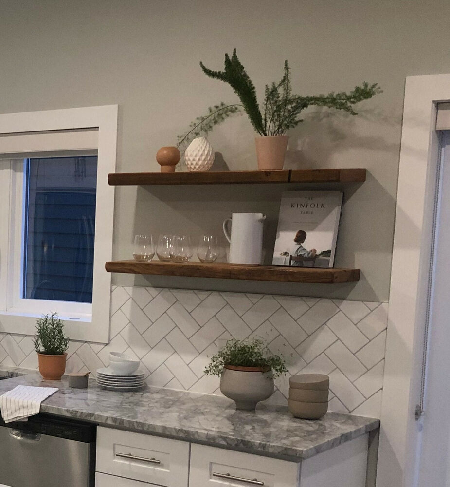 Details About Floating Shelves Nightstand Kitchen Fireplace Mantel Shelf