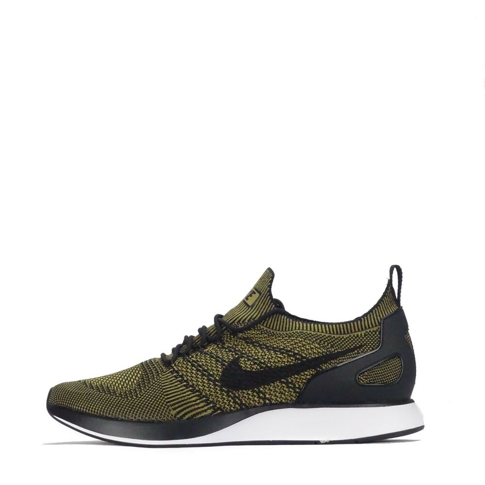542d84013892 Details about Nike Air Zoom Mariah Flyknit Racer Mens Running Trainers  Black  Desert Moss