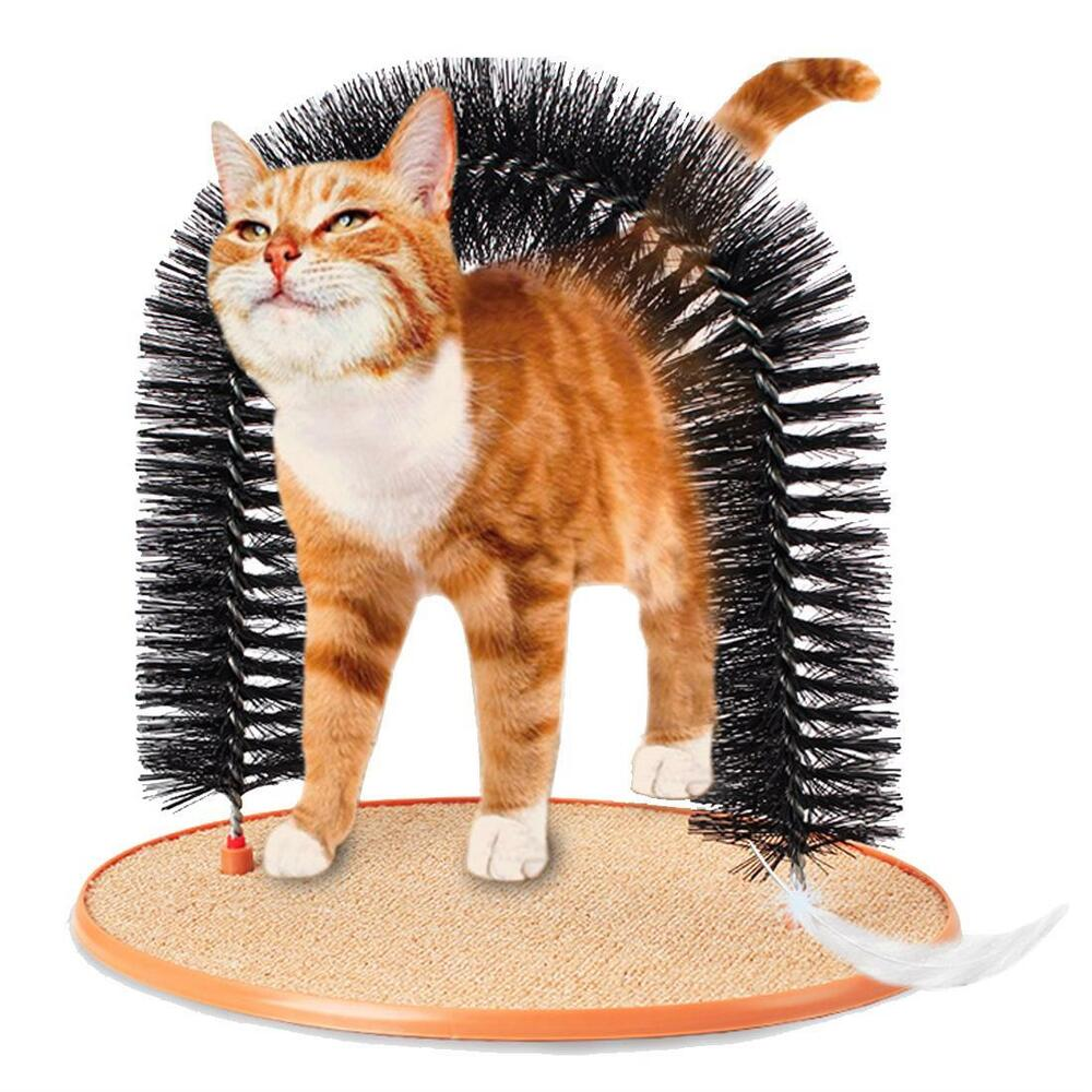 Cat Self Groomer With Round Fleece Base Pet Products Scratch Arch ...