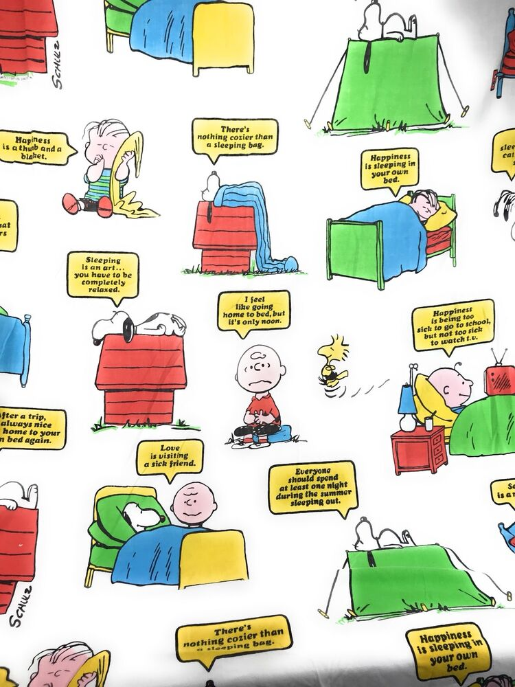 Peanuts Sheet Sleep Theme Snoopy Charlie Lucy Linus Schultz Twin
