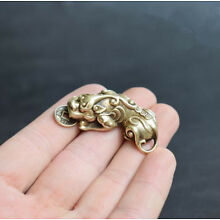 Chinese Old Collectibles Pure brass God beast pixiu small pendant