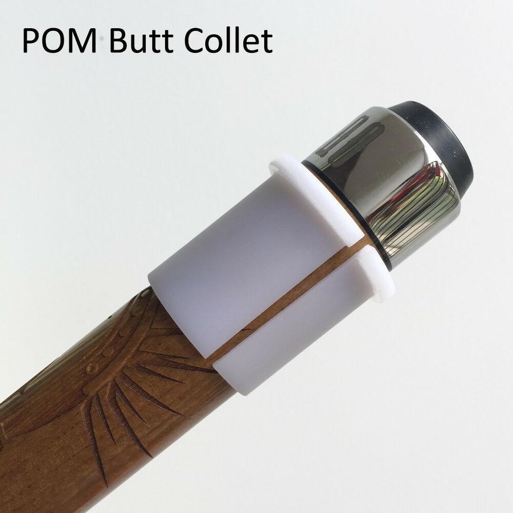 Parts Of A Pool Cue: Pool Cue White POM Butt Collet Sleeve