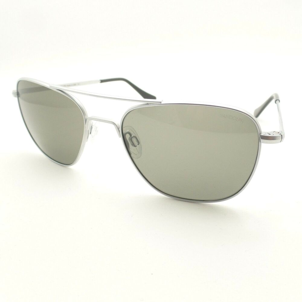 c37ab7aa1a Details about RANDOLPH ENGINEERING AVIATOR MATTE CHROME SKULL GRAY  SUNGLASSES MADE IN THE USA
