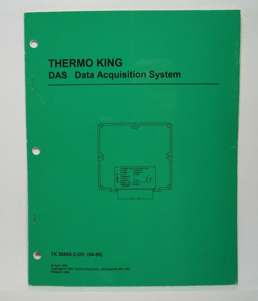 Thermo King DAS Module Data Acquisition System Manual SB-III 30 Max Wiring  Diag. | eBay