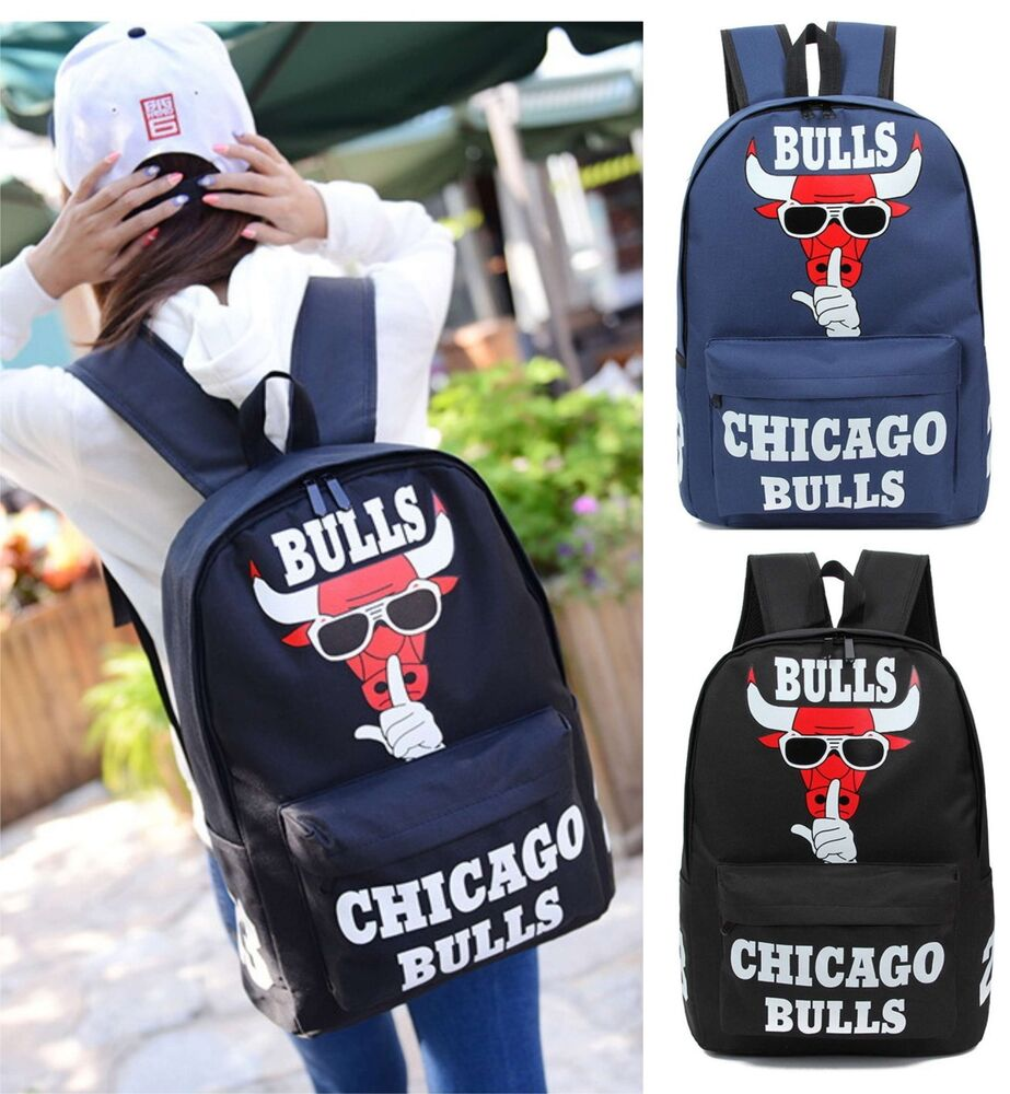 7d0fbe84a31f Details about NEW Michael Jordan 23 Chicago Bulls Backpack Travel Bag  Girls Boys School Bag