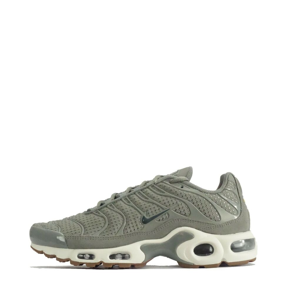 11ba4f78b Details about Nike Air Max Plus Tuned Womens Trainers Dark Stucco   Vintage  Green