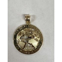 Kyпить 10K SOLID YELLOW GOLD THE WORLD IS YOURS GLOBE PENDENT  на еВаy.соm