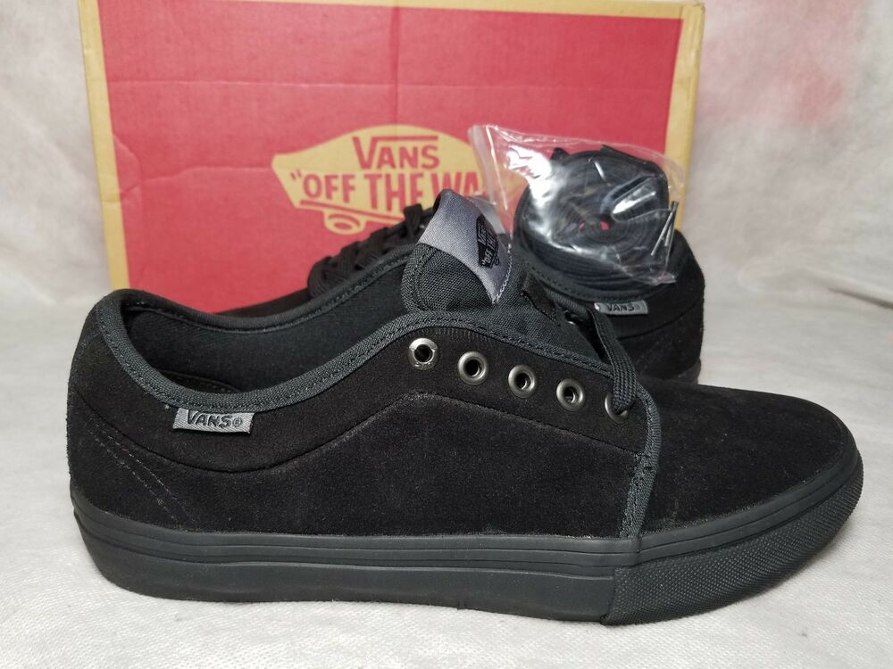 9747f9fbbd3 New Vans Chukka Low Pro Suede Blackout Gum Grey Ultra Cush Skate Shoe Men  Size 7