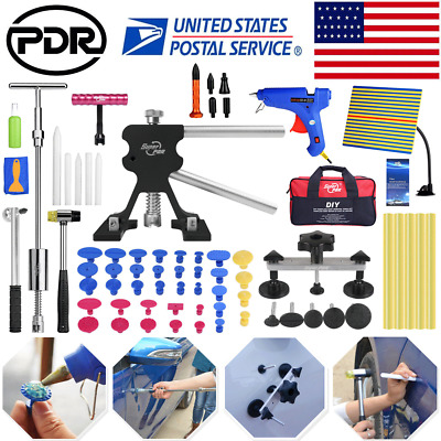 Paintless Dent Removal Puller Lifter PDR Tools Line Board Repair Hammer Hail Kit