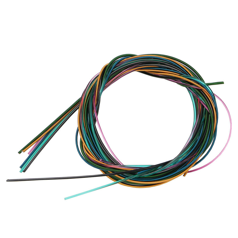 6pcs set colorful guitar strings fit for all size classical electric guitar bass ebay. Black Bedroom Furniture Sets. Home Design Ideas