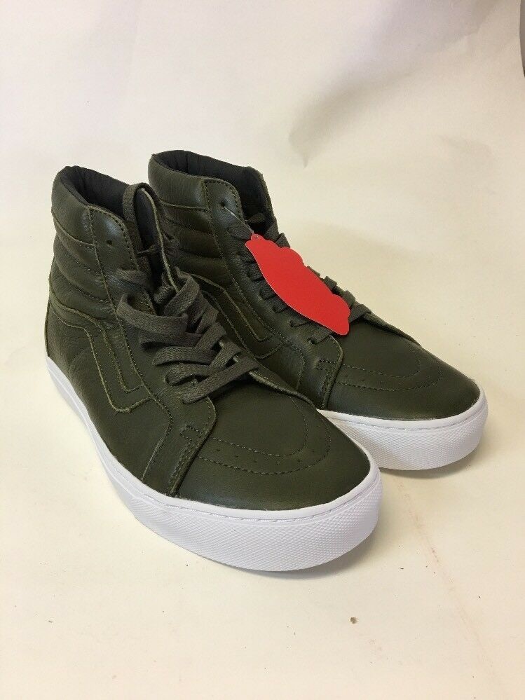 96b37159fb0fcc Details about Vans SK8 Hi Cup Leather Green Men s Size 8.5 Skate Shoes  Women s 10 NEW