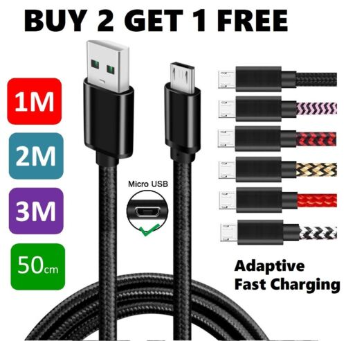 1M 2M 3M Micro USB Charging Cable Lead For Samsung Galaxy S6 Edge S5 S7 J8 J5 J7