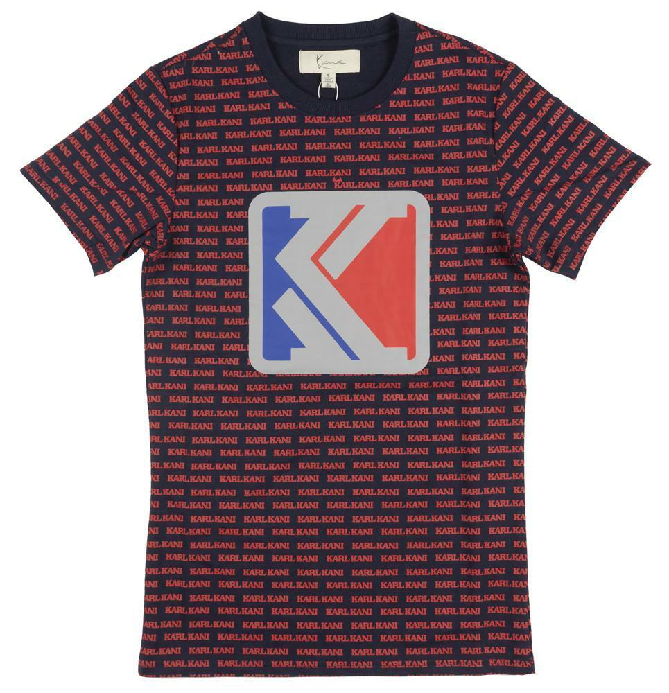Details about Karl Kani All Over Print T-Shirt Navy Red Tee Fashion Tupac  S-2XL NWT 90s Rare 47c1a0cb01a