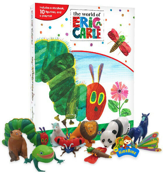 c74f09362 Details about The World of Eric Carle (The Hungry Caterpillar) My Busy  Book, Map, Figures