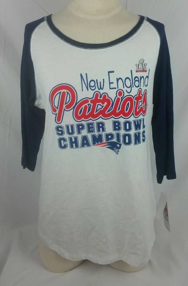 Details about NFL Teen Apparel Women s Shirt XL New England Patriots Super  Bowl Champs 670ecfdf6