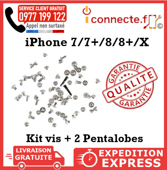 KIT VIS COMPLET & PENTALOBE IPHONE X / ( 7 8)PLUS TROX ORIGINAL