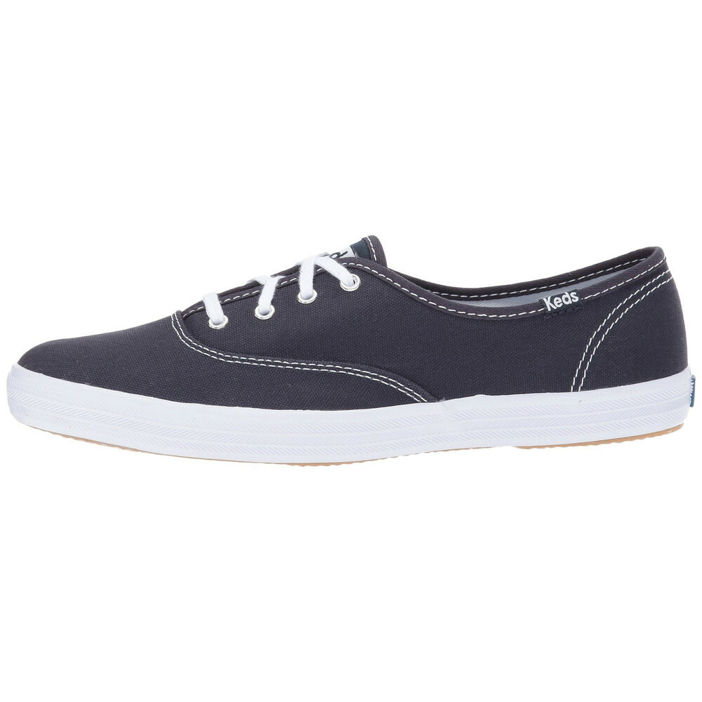 1272981aff1 Details about Women s Keds Champion Oxford Canvas Fashion Sneaker Navy  Canvas All Sizes NIB