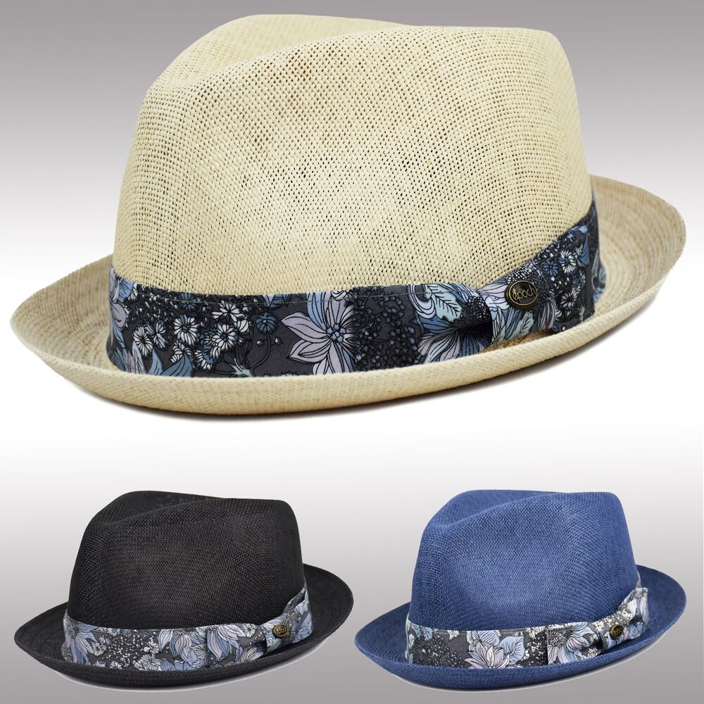 Topshop Navy Fedora Hat Boohoo Floral: Mens Summer Straw Fedora Porkpie Hat, Breathable, Stingy