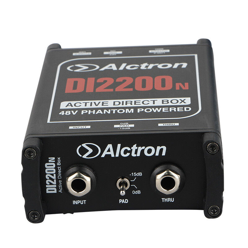 active direct box stereo di box 48v phantom power for electric guitar bass ebay. Black Bedroom Furniture Sets. Home Design Ideas