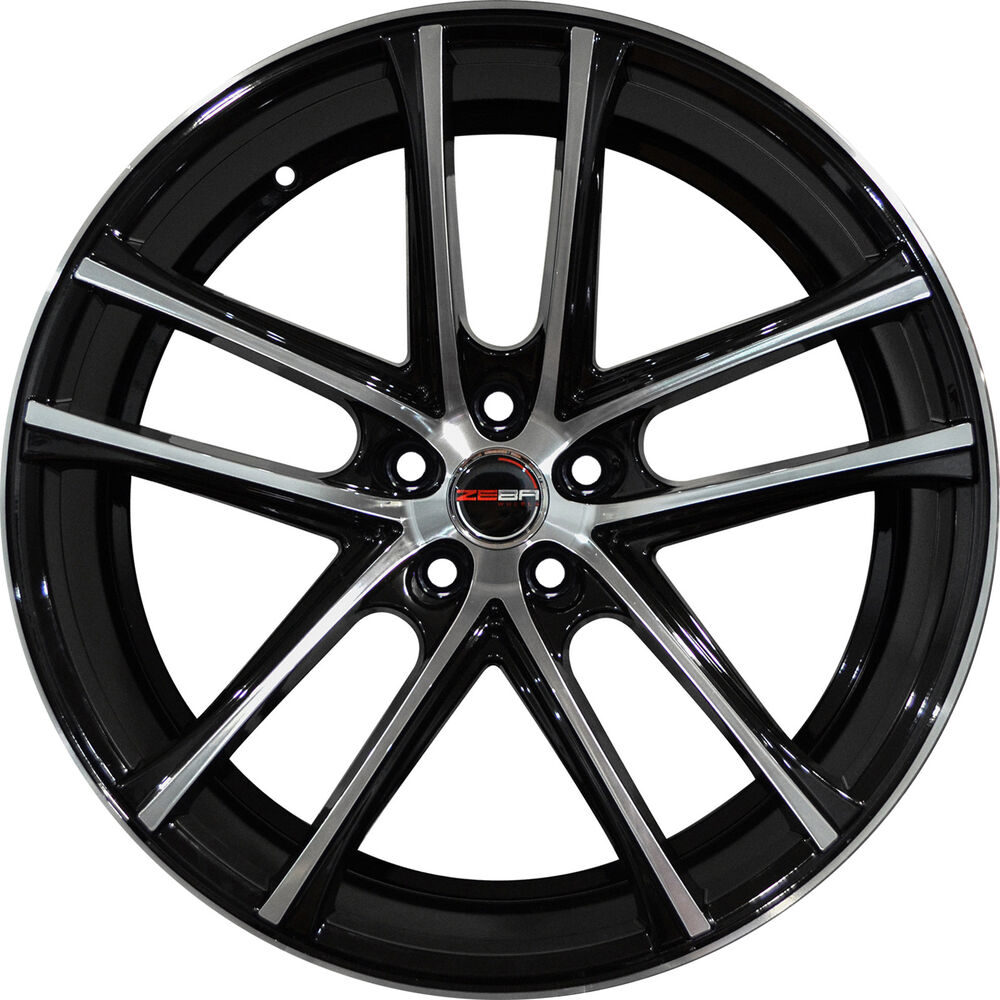 4 GWG Wheels 18 Inch Black Machined ZERO Rims Fits ACURA